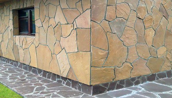 Облицовка натуральным камнем песчаником
