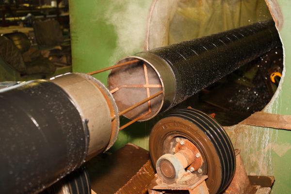 Внутренняя изоляция труб методом нанесения состава ЦПИ