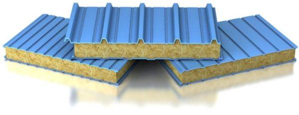 Сэндвич панели из минеральной ваты для теплого строительства
