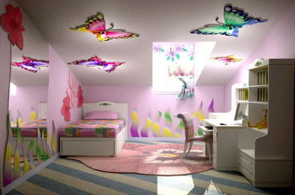 Каким должен быть потолок в комнате вашего ребенка?